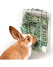 zswell Hay Feeder Rack - Hay Feeder Manger Rack for Rabbit Guinea Pig Chinchilla and Other Small Animals White