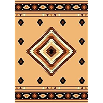 Furnish my Place Southwest Southwestern Modern Area Rug, Rustic Lodge Burber 640