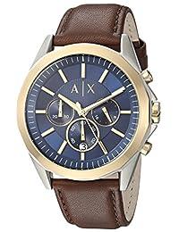 Armani Exchange AX2612 Watch, Men, Dress Brown Leather