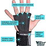 JerkFit WODies Camo Hand Grips with Wrist Wraps for