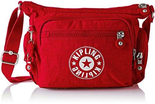 Kipling Gabbie S, Bolsos Bandolera para Mujer, Rojo (Lively Red), 29x22x16.5 cm