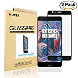[2 Pack] OnePlus 3 / OnePlus 3T Screen Protector, NOKEA Tempered Glass Full coverage [Case Friendly][3D Curved Protection]HD Clear Tempered Glass Screen protector For OnePlus 3 / OnePlus 3T Black
