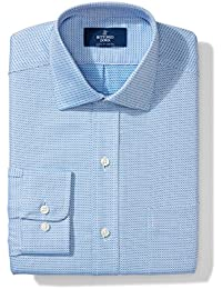 Men's Classic Fit Spread-Collar Pattern Non-Iron Dress Shirt