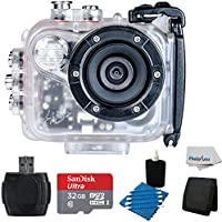 Intova HD2 Marine Grade Action Camcorder With SanDisk Ultra 32GB Card with Adapter + Memory Card Wallet + USB Card Reader + 3 Piece Cleaning Kit & Clean Cloth