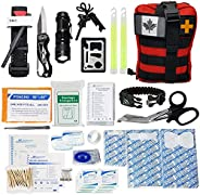 GOOD JOURNEY Emergency Survival First Aid Kit with Tourniquet and Outdoor Gear IFAK Tactical First Aid Molle T