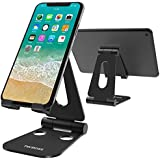 (Upgraded Version)Tecboss Cell Phone Stand Tablet Stand, Multi-Angle Adjustable Desktop Holder for Nintendo Switch, iPad, iPhone and All Android Smartphone - Foldable
