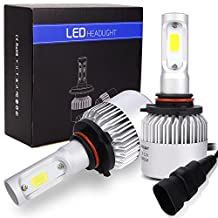 Safego 8000lm 9005 LED Headlight Kit Bulbs COB Chip HB3 Car Auto LED Conversion Kit 12v Replace for Halogen Lights or HID Bulbs S2-9005