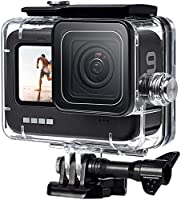 FitStill 60M Waterproof Case for GoPro Hero 9 Black, Protective Underwater Dive Housing Shell with Bracket Accessories...