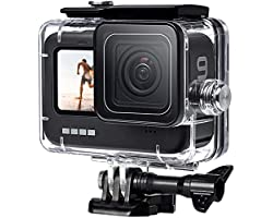 FitStill 60M Waterproof Case for GoPro Hero 9 Black, Protective Underwater Dive Housing Shell with Bracket Accessories for Go