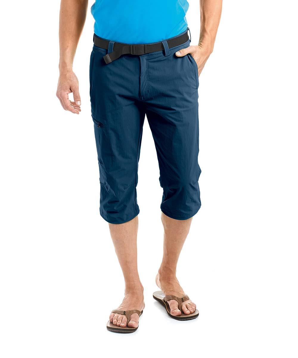 Bleu (aviator) Maier sports Jennisei Capri - Pantalon 3 4 pour Homme -