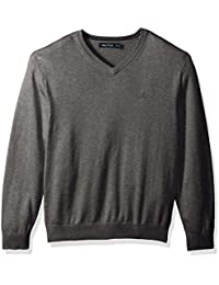 Men's Long Sleeve Solid Classic V-Neck Sweater
