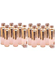 1150ml 38 89oz Set Of 12 Prisha India Craft Pure Copper Water Bottle For Health Benefits Water Bottles Joint Free Handmade Christmas Gift