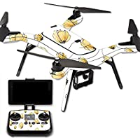 MightySkins Protective Vinyl Skin Decal for 3DR Solo Drone Quadcopter wrap cover sticker skins Yellow Poppy