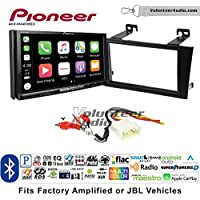Volunteer Audio Pioneer AVH-W4400NEX Double Din Radio Install Kit with Wireless Apple CarPlay, Android Auto, Bluetooth Fits 2000-2004 Toyota Avalon with Amplified System