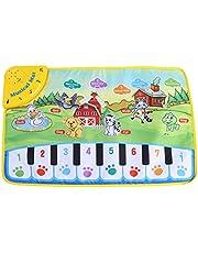 Fdit Estera de Piano de Bebé Juquetes de Alfombrilla de Música Manta de Música Multifuncional para Bebé y Niños con Dibujo Animales