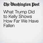 What Trump Did to Kelly Shows How Far We Have Fallen | E.J. Dionne Jr.