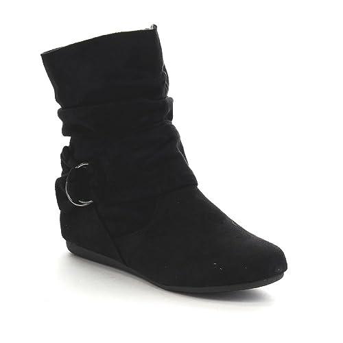 Flat Black Boots for Women: Amazon.com