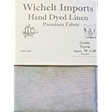 """Wichelt Hand Dyed 100% Linen Thyme 28 Ct 18"""" x 26"""" Cross Stitch Fabric"""