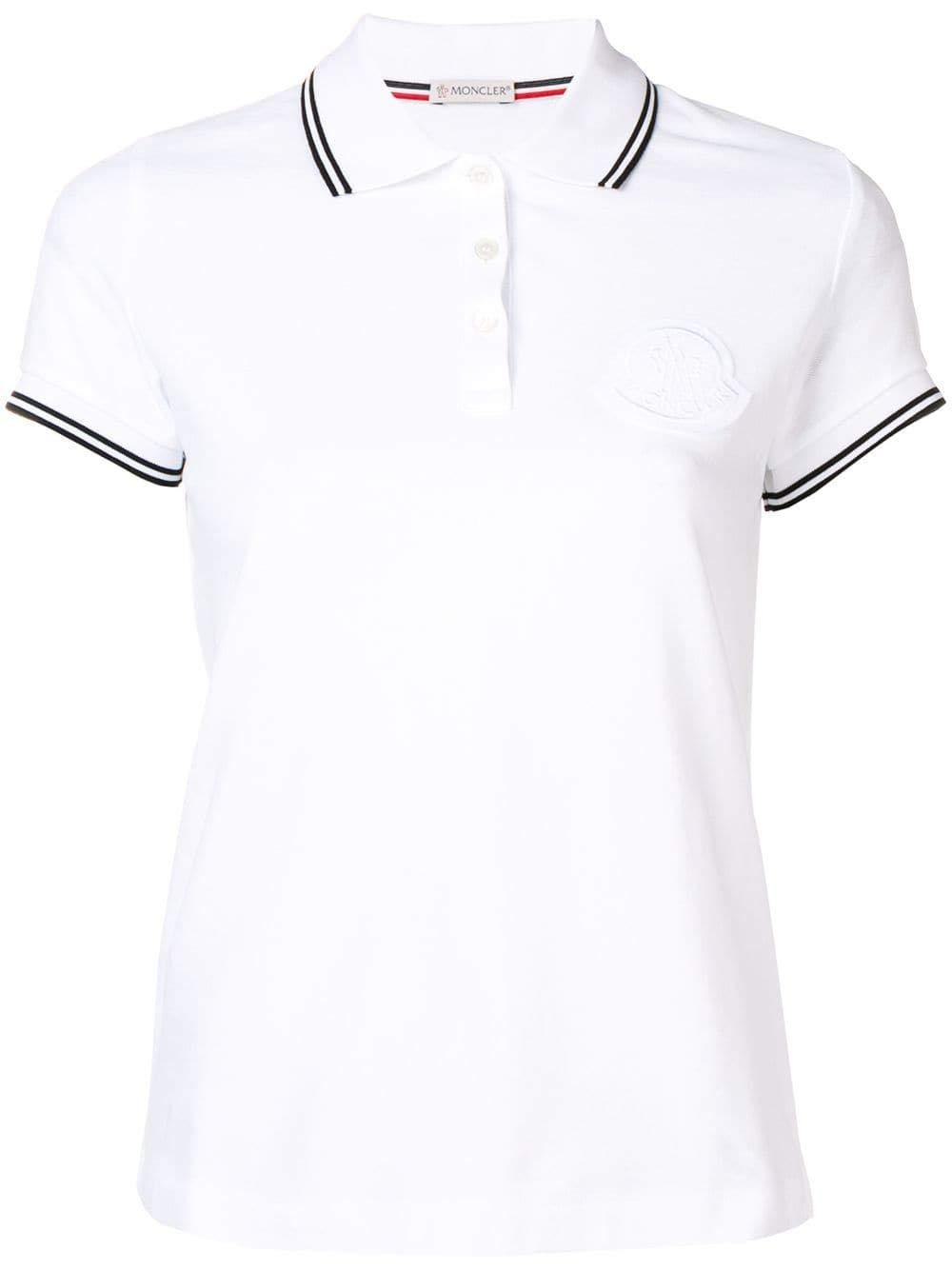 Moncler Women's 8386061V8003001 White Cotton Polo Shirt