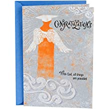 Hallmark Mahogany Religious Graduation Greeting Card (Angel Graduate With God, All Things Are Possible)