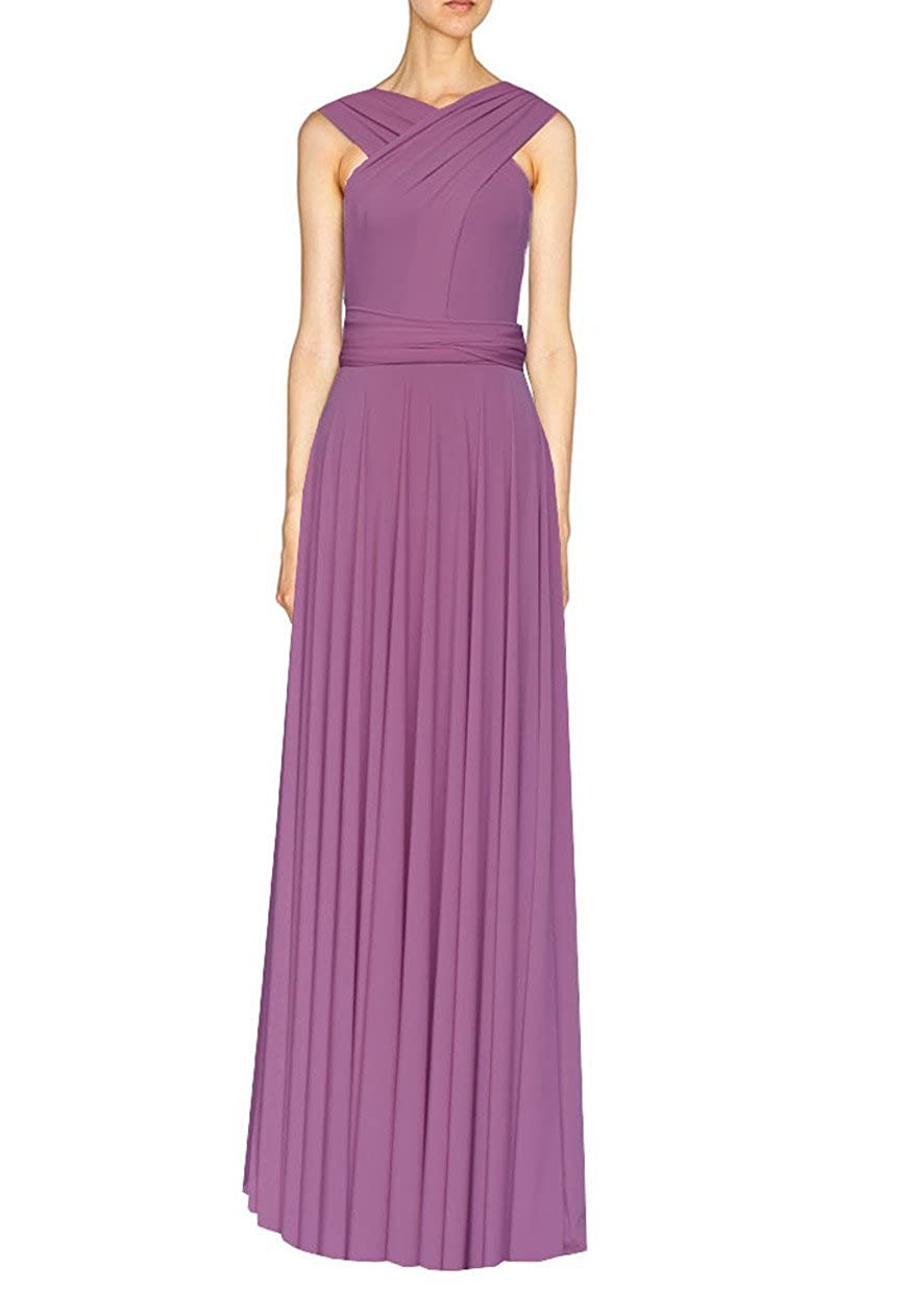 Mauve E K Women's congreenible multi way maxi dress Long infinity gown