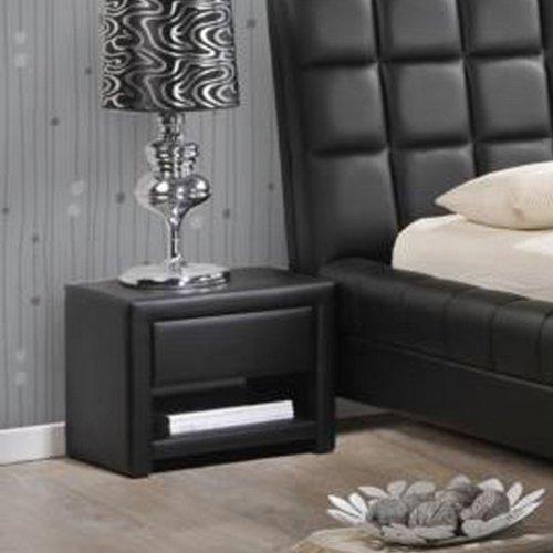 home, kitchen, furniture, bedroom furniture,  nightstands 12 picture Baxton Studio Massey Upholstered Modern Nightstand, Black promotion