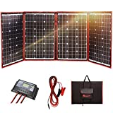 DOKIO 200 Watts 12 Volts Monocrystalline Foldable Solar Panel Inverter Charge Controller