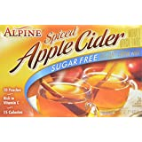 ALPINE - SPICED - APPLE CIDER - SUGAR FREE INSTANT DRINK MIX - 10 POUCHES - AMERICAN IMPORTED