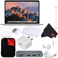 Apple 15 MacBook Pro, Retina, Touch Bar, 2.9GHz Intel Core i7 Quad Core (#MPTV2LL/A) + MicroFiber Cloth + 2.4 GHz Slim Optical Wireless Bluetooth + Type-C USB 3.0 HUB Bundle