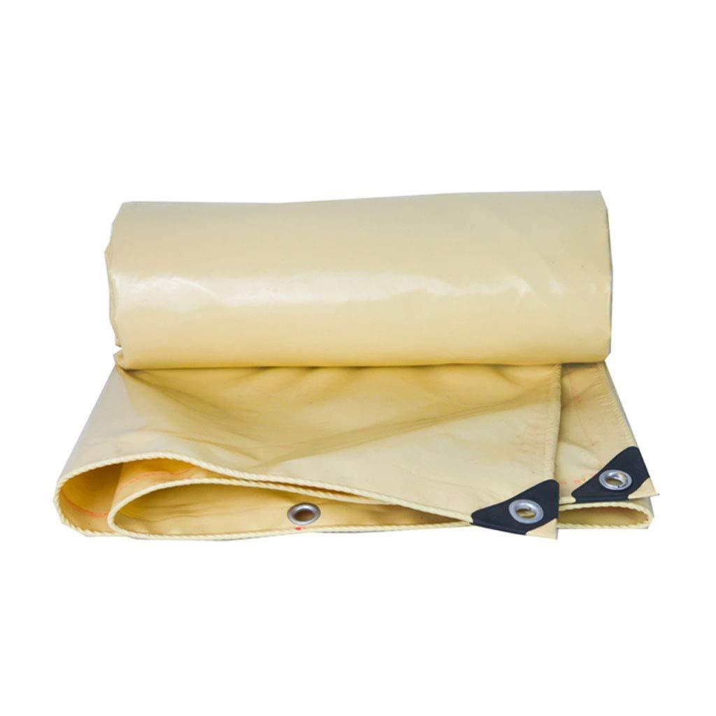 YX-Planen Dicke gelbe Plane reversibel wasserdicht - hohe Dichte 100% wasserdicht und UV-geschützt - Dicke 0,5 mm, 580 g m²