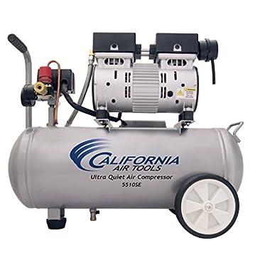 California Air Tools 5510SE Ultra Quiet and Oil-Free 1.0-HP 5.5-Gallon Steel Tank Air Compressor