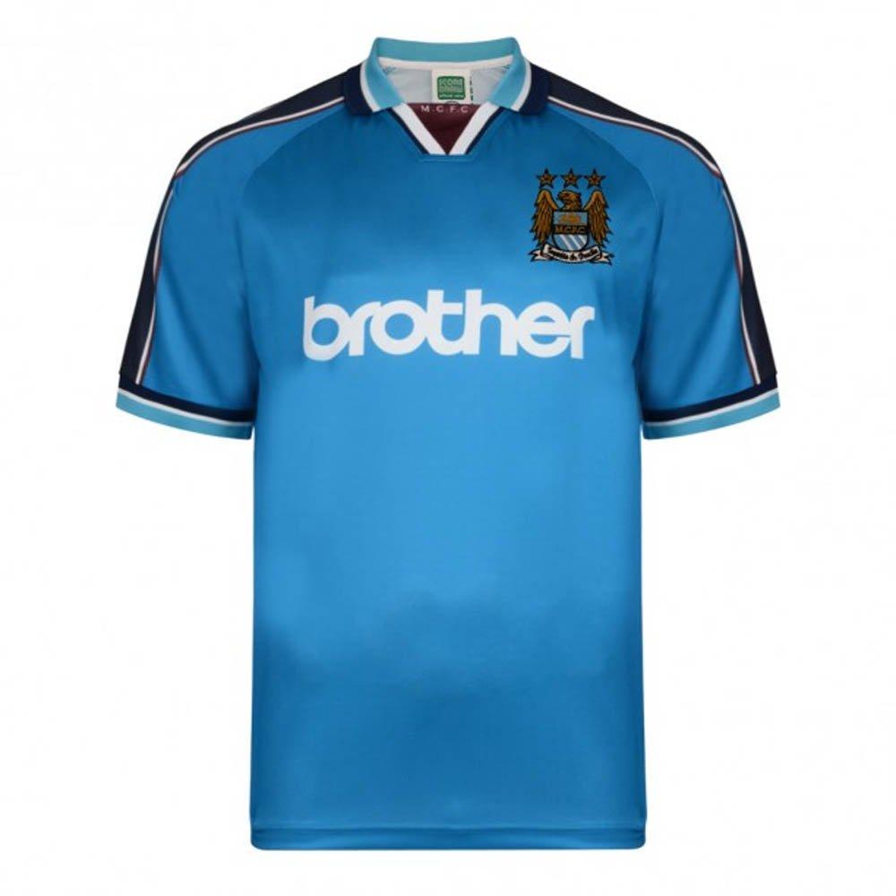 ScoreDraw Manchester City 1998 Home Football Soccer T-Shirt Trikot