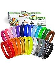 3D Pen Filament Refills | PLA 1.75mm | 25 Colour Array, 20 Solid Colours + 5 Fluorescent/Transparent, 33ft Each, 825 Feet Total… (25 Colors, 825ft Total)