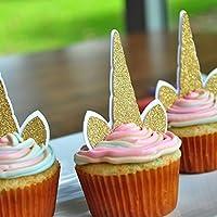 Unicorn Cupcake Toppers. Unicorn Birthday. Unicorn Party Supplies. Unicorn Horn. 12CT.