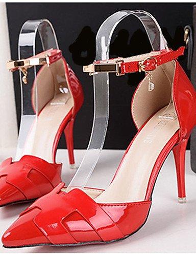 GGX  Damenschuhe-High Heels-Lässig-PU-Stöckelabsatz-Absätze-Schwarz Silber   Rot   Silber Heels-Lässig-PU-Stöckelabsatz-Absätze-Schwarz 8b1176