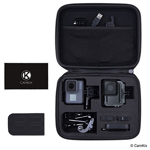 CamKix Case Compatible with GoPro Hero 7/6 / 5 Black - Perfect for Travel and Storage - Versatile EVA Interior with Precise Fit Cut - Protection for GoPro Hero 6/5 Camera & Accessories