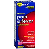 Sunmark Pain Reliever Children's Suspension Liquid Bubble Gum - 4 oz