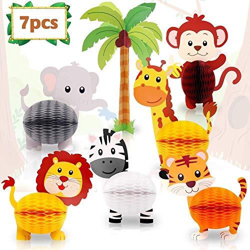 Monkey Home Animals Panal centros de Mesa Criatura 3D Decoraciones de Mesa para Baby Shower cumpleanos Fiesta Suministros de decoracion