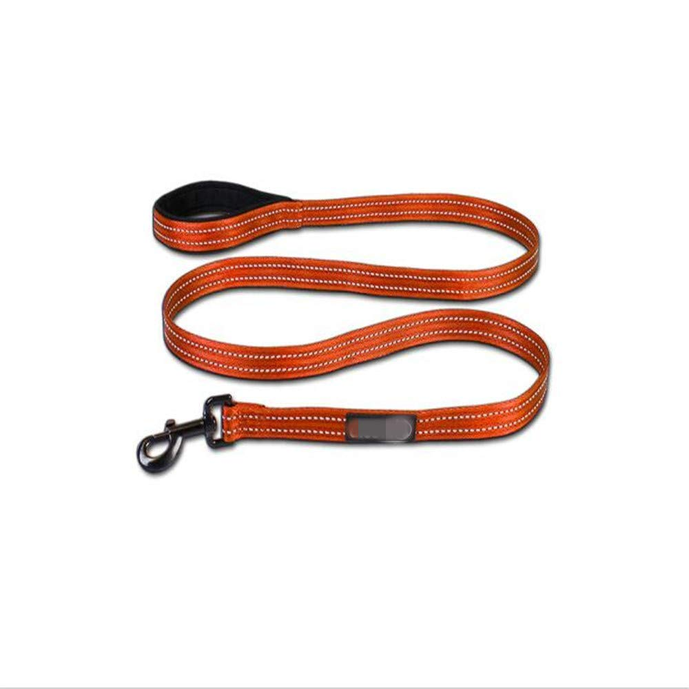 Large PET COLLAR HOME Pet Dog Leash Dog Chain Nylon Traction Belt Large And Medium-Sized Dog Traction Rope 1.8M With Anti-Light, L (Size   L)