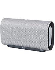 AUKEY Enceinte Bluetooth 20W, 12 Heures d'Autonomie, Basses améliorées avec Double radiateur Passif/Subwoofers - Compatible Echo, iPhone, iPad, Samsung, Android (Noir)