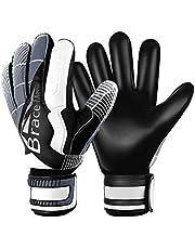 Brace Master Keepershandschoenen met Uitstekende Vinger- en Grip Bescherming, 3 + 3 mm Voetbaldoelmanhandschoen Voor Heren en Dames, Training en Wedstrijd