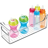 "mDesign Baby Nursery Organizer Bins for Clothes, Diapers, Toys - 5"" x 5"" x 14.5"", Clear"