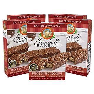 Sunbelt Bakery Fudge Dipped Coconut Granola Bars, 1.1 oz Bars, 50 Count