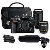 Nikon D7200 DSLR Camera Kit with AF-P DX 18-55mm f/3.5-5.6G VR Lens & AF-P DX 70-300mm f/4.5-6.3G ED Lens - Bundle With Tascam DR-10SG Camera Audio Recorder with Shotgun Mic, EN-EL15 Battery