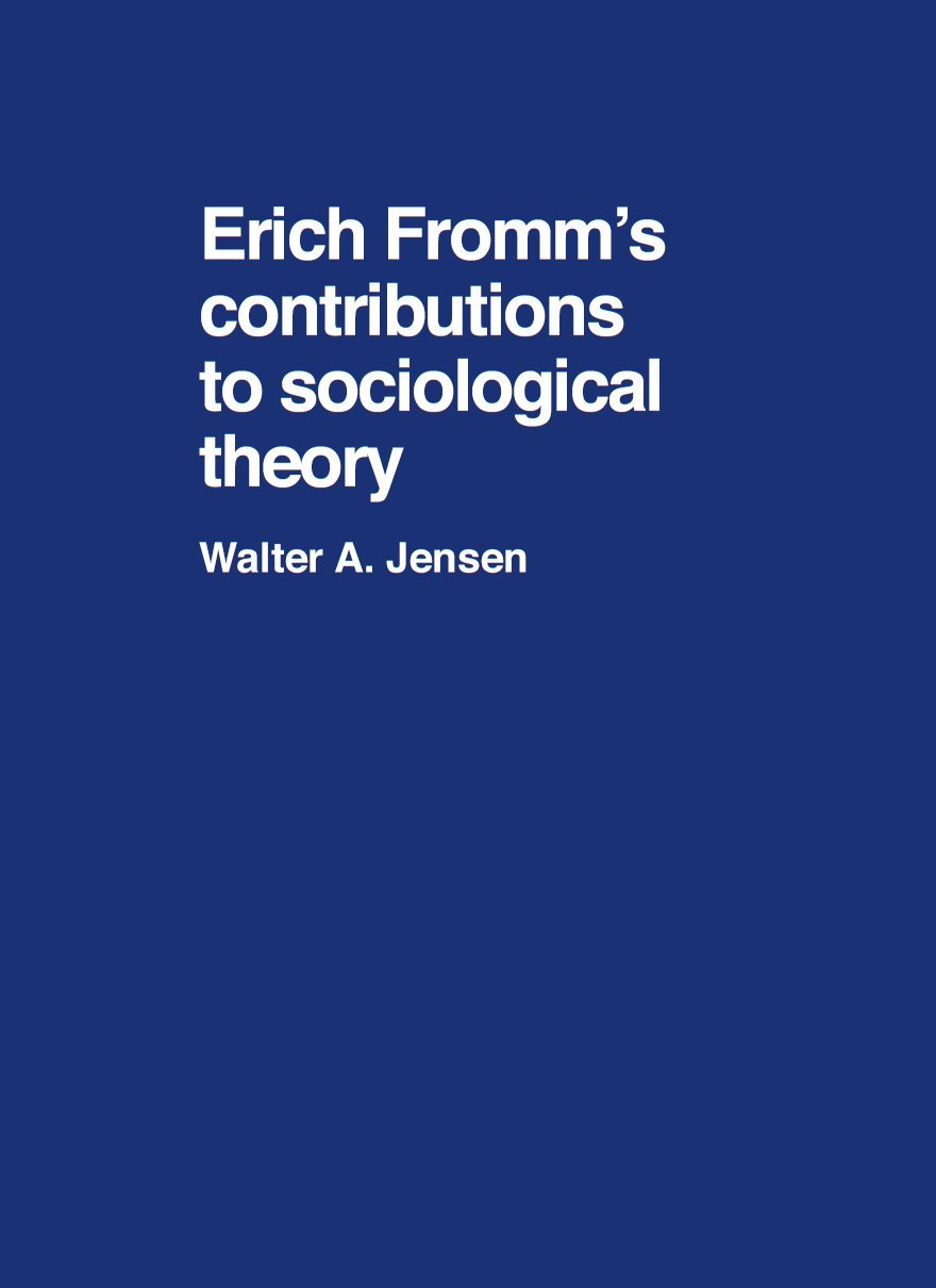 Erich fromm theory