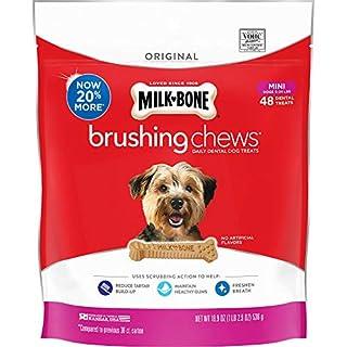 Milk-Bone Brushing Chews Daily Dental Dog Treats, Original, Mini Treats, 18.9 Ounces