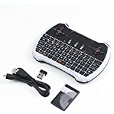 Wishpower 2.4GHz Backlit Mini Wireless Keyboard with Touchpad Mouse and Multimedia Keys for Android TV Box, Windows PC, HTPC, IPTV, Raspberry Pi and More (colorful)