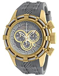 New Mens Invicta 90004 Reserve Bolt Swiss Chronograph Grey Rubber Strap Watch