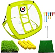 MESIXI Pop Up Golf Chipping Net   Perfect Golf Gifts for Men, Outdoor Indoor Putting Green Golfing Target Acce