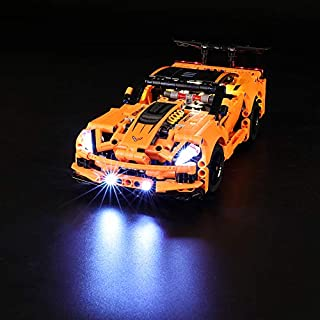 LIGHTAILING Light Set for (Technic Chevrolet Corvette ZR1) Building Blocks Model - Led Light kit Compatible with Lego 42093(NOT Included The Model)